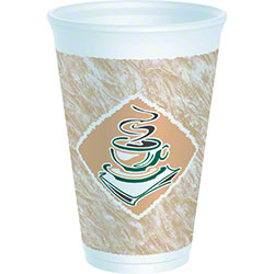 Dart® Café G™ Thermo-Glaze Foam Cup - 16 oz., Green