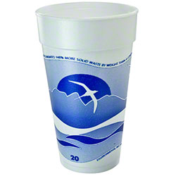 Dart® Horizon® Foam Cup - 20 oz, Blueberry