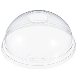 "Dart® Clear Dome Lid w/1"" Hole For 16 to 26 oz. Cups"