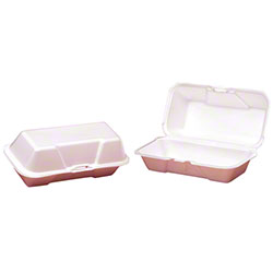 "Genpak® Medium Hoagie Container - 8 1/2"" x 4 3/4"" x 3 1/8"", White"