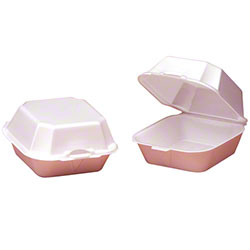 "Genpak® Large Sandwich Container - 5 5/8"" x 5 3/4"" x 3 1/8"", White"