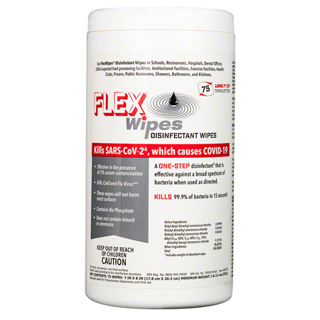 FLEX® Disinfectant Wipes - 75 ct.