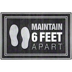 "Apache Mills ""Maintain 6 Feet Apart"" Social Distancing Mat - 24"" x 36"""