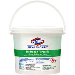 Clorox Healthcare® Hydrogen Peroxide Cleaner Disinfectant Wipe - 185 ct. Bucket