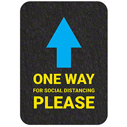 "Grippy Logo ""One Way Please"" Social Distancing Mat - 17"" x 24"""