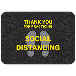 "Grippy Logo ""Thank You For Practicing Social Distancing"" Mat - 17"" x 24"""