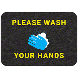 "Grippy Logo ""Please Wash Your Hands"" Social Distancing Mat - 17"" x 24"""