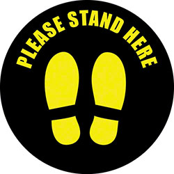 "Americo ""Stand Here"" Circle Mat - 12"""