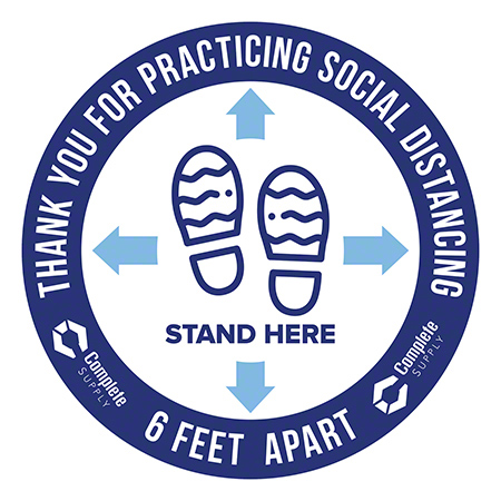 "8"" Social Distance Floor Circle Decal"