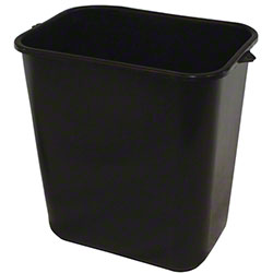Impact® Rectangular Soft-Sided Wastebasket - 28 Qt., Black