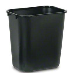 Rubbermaid® Deskside Wastebasket - 28 1/8 Qt., Black