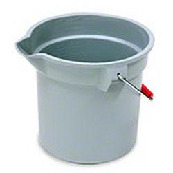 Rubbermaid® BRUTE® Round Bucket - 10 Qt., Gray