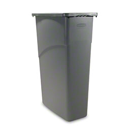 Rubbermaid® Slim Jim® Waste Container - 23 Gal., Gray