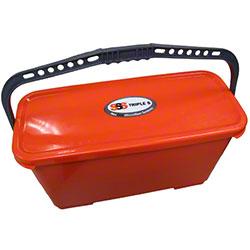 SSS® NexGen PK Mop Bin w/Lid - Orange
