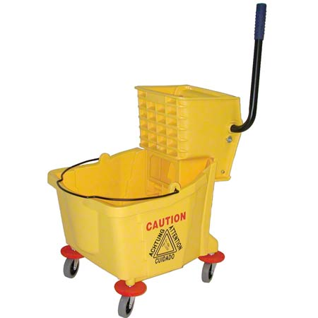 Golden Star® Bucket & Wringer Combo - 26-32 Qt., Yellow
