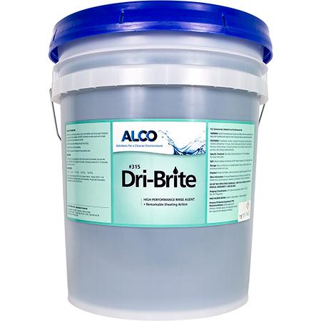 Alco Dri Brite Rinse Additive - 5 Gal. Pail