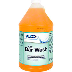 Alco Bar Wash Low Foaming Glass Detergent - Gal.