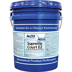 Alco Supreme Court EZ Water-Based Wood Floor Finish - 5 Gal.