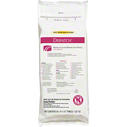 Dispatch® Hospital Cleaner Disinfectant Towels w/Bleach - 60 ct.