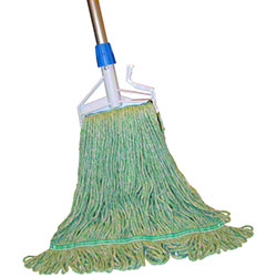 PRO-LINK® Standard Loop End Wet Mop - Medium, Green