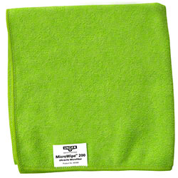 Unger® MicroWipe™ 200 Microfiber Cloth - Green