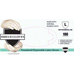 Wrap Tite Shield Gloves Powdered Disposable Latex Gloves