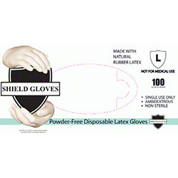Wrap Tite Shield Gloves Powder-Free Disposable Latex Gloves