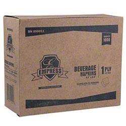 "Empress™ 1-Ply White Beverage Napkin - 8.5"" x 9"""