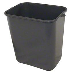 Impact® Rectangular Soft-Sided Wastebasket - 28 Qt., Gray