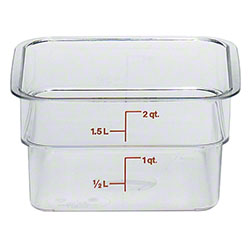 Cambro CamSquares® Camwear® - 2 Qt., Clear