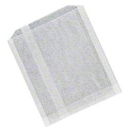 Plain White Grease Resistant Sandwich Bag - 6 x 3/4 x 6 1/2