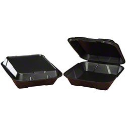 Genpak® Large Snap-It™ 1 Comp. Hinged Container - Black