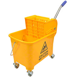 Janico Mop Bucket w/Down Press Wringer Combo
