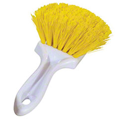 Magnolia Yellow Plastic Utility Brush w/Short Plastic Handle