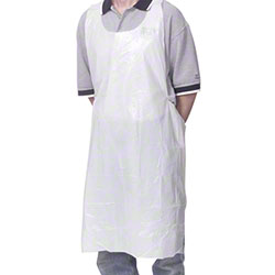 "Royal Disposable Poly Apron - 28"" x 46"""