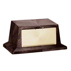 Continental Wall Hugger™ Push Door Lid - Brown/Beige