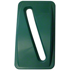 Impact® Thin Bin Lid w/Paper Slot For Recycling - Green