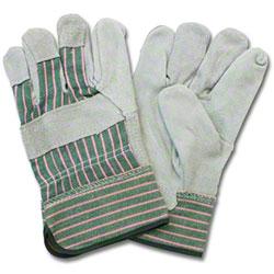 Safety Zone Leather Palm Gunn Cut Glove - Men's