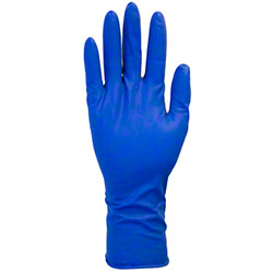 Safety Zone Latex Disposable Blue Heavy Duty Gloves