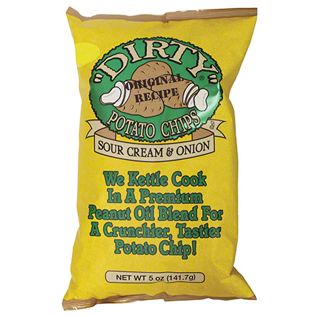 Dirty Sour Cream & Onion Kettle Potato Chips - 5 oz.