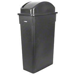Winco® Brown Cover For Slender Trash Can PTC-23B