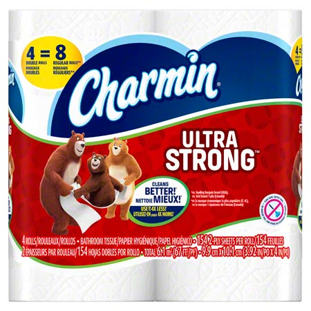 "P&G Charmin® Ultra Strong 2-Ply Bath Tissue - 4.0"" x 4.27"""