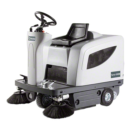 "Advance Terra® 4300B Compact Rider Sweeper - 43"", 315AH"