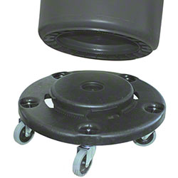 Standard Gray Dolly For Round Receptacle