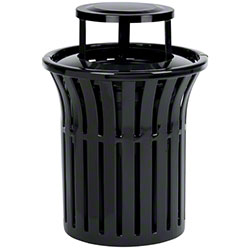 Anova® Rendezvous Black Trash Receptacle w/Bonnet Top