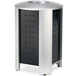 Anova® Signature 40 Gal. Silver/Black Trash Receptacle