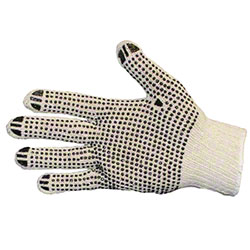 Impact® String Knit PVC Dotted Both Sides Glove - Large