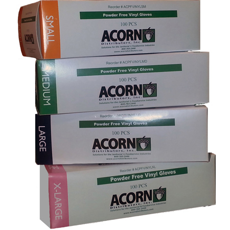 Acorn Powder Free Vinyl Gloves - XL