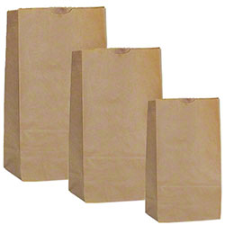 AJM Kraft Grocery Bag - 25#, Tall