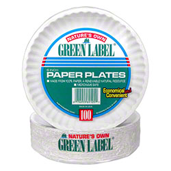 AJM Green Label Paper Plate - 6""